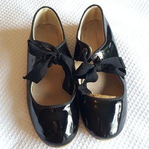 Zara Girls 31 / 13.5 Black Patent Dress Shoes